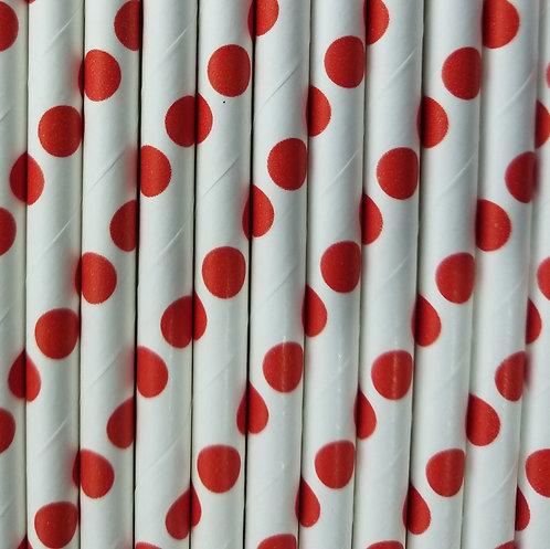 Lunares Rojo 6x210mm paquete de 500 piezas