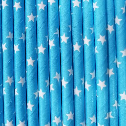 Estrellas Fondo en Azul Bebe 6x210mm paquete de 500 piezas