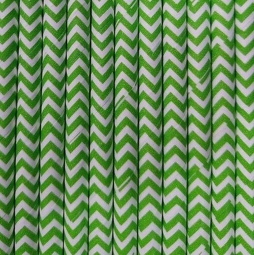 Zig zag Verde 6x210mm paquete de 500 piezas
