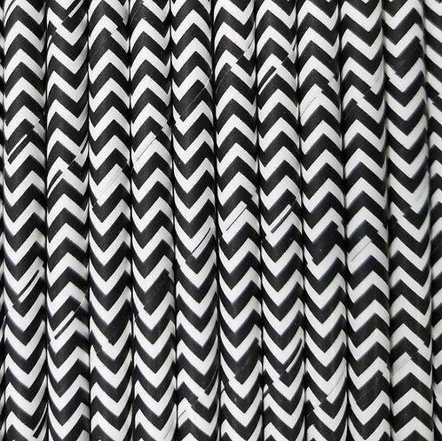 Zig zag Negro 6x210mm paquete de 500 piezas