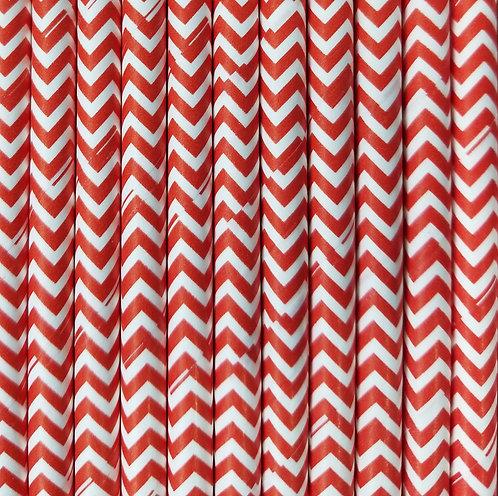 Zig zag Rojo 6x210mm paquete de 500 piezas