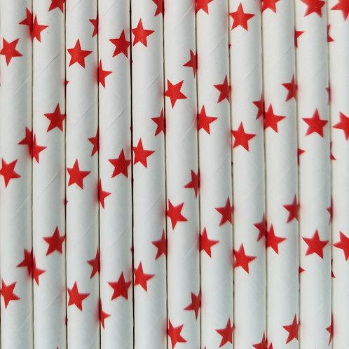 Estrellas Rojas 6x210mm paquete de 500 piezas