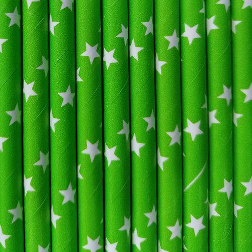 Estrellas Fondo Verde 6x210mm paquete de 500 piezas