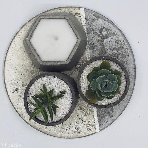 Set Vela Geométrica y Cilindros planta