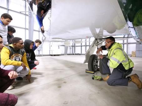 Davis Aerospace & Maritime High School Partners with United Airlines on Fellowship Program
