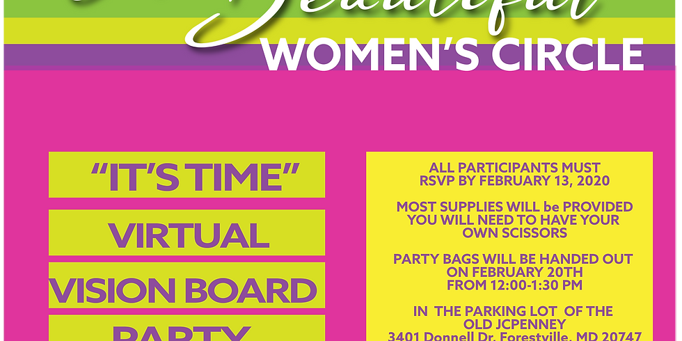 It's Time Virtual Vision Board Party