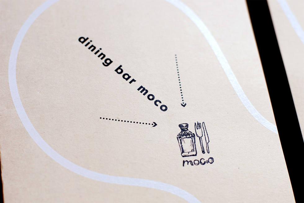 バル食堂moco 名刺とフライヤー
