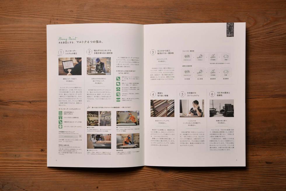 マルトク|パンフレットデザイン