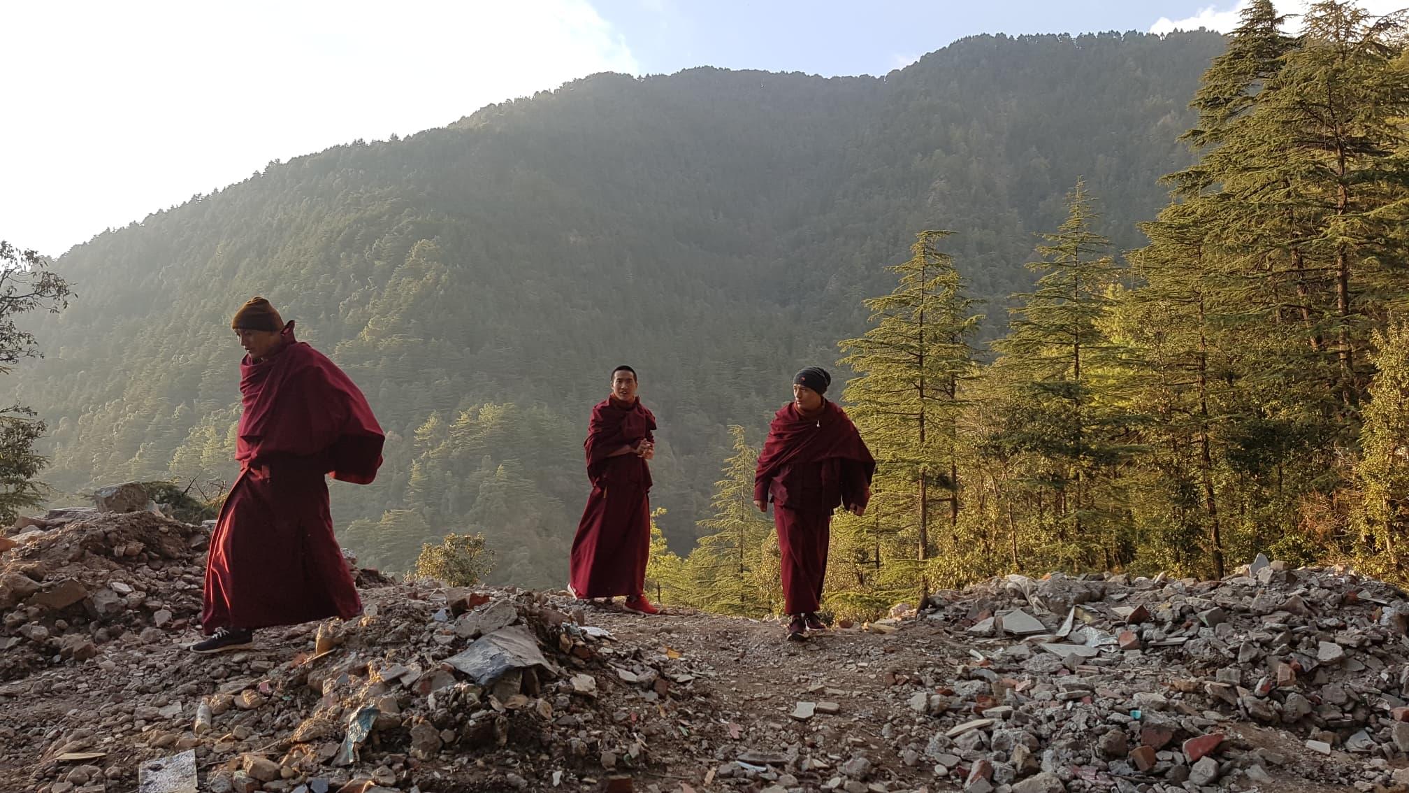 Tibetan Monks in Mcleod Ganj