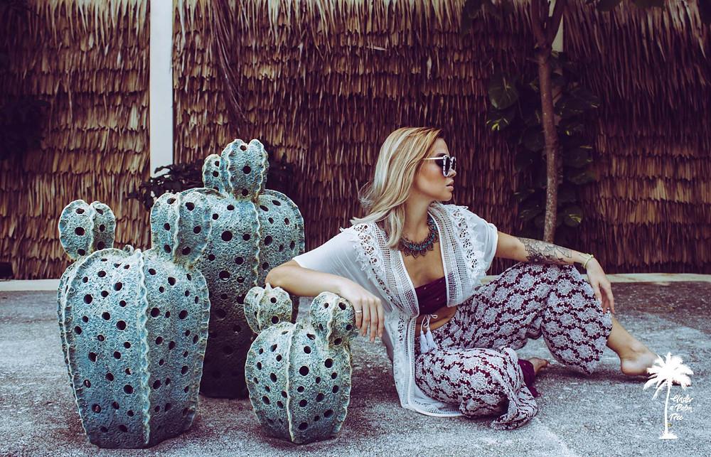 Milena krawetz fashion photography bohemian gucci under a palm tree photography