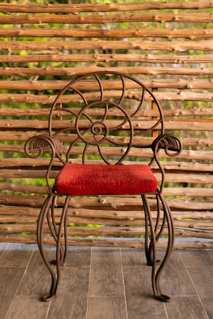 metal chair architecture  property photo