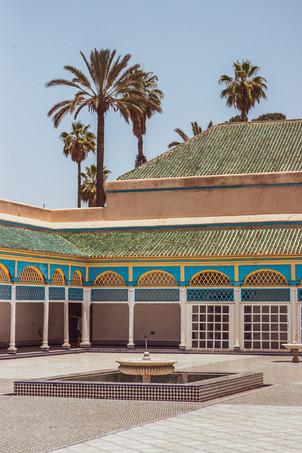 balia palais, palm tree, courtyard, travel photographer, under a palm tree photography, islamic architecture