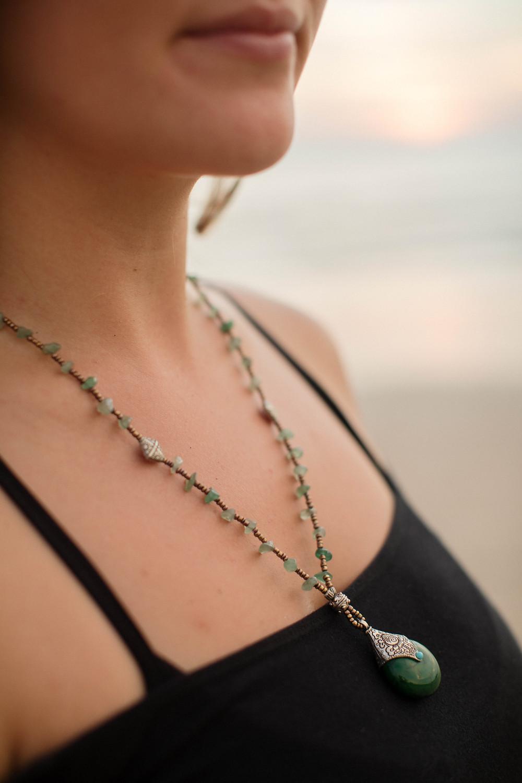 lena larsson green necklace photoshoot golden hour thailand