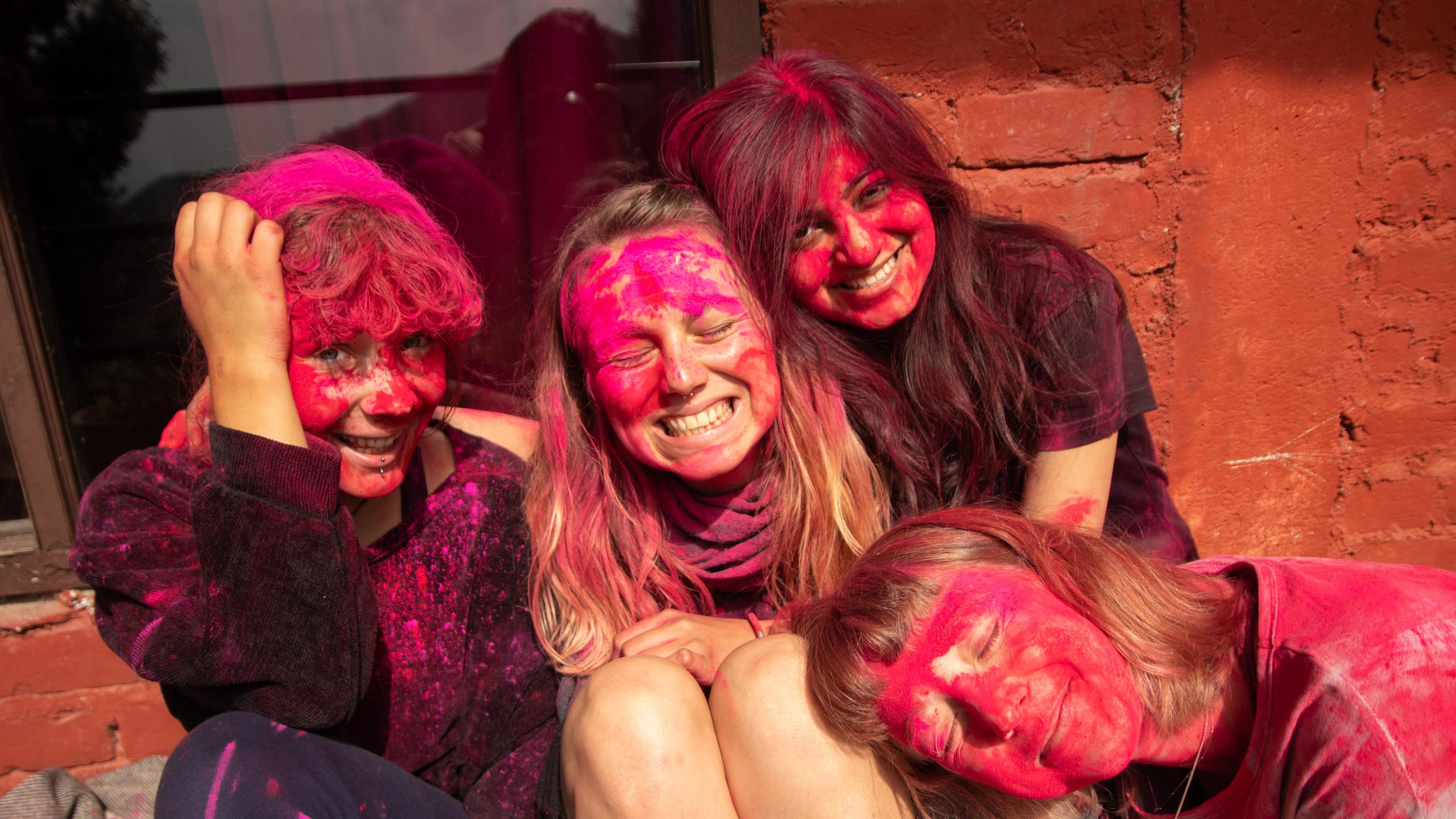 Holi celebrations at Chinmay Yoga