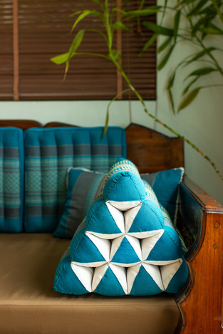 thai cushion teal turquoise plant proper
