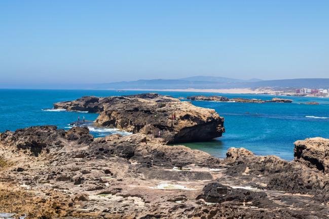 coastline essaouria morocco blue sea