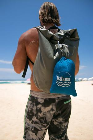 kahuna beach blanket under a palm tree p
