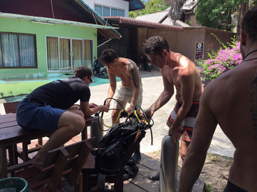 Getting ready for the Open Water Course Koh Phangan