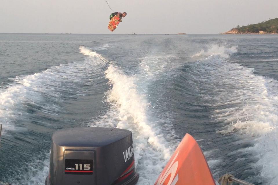 Jumping the wake