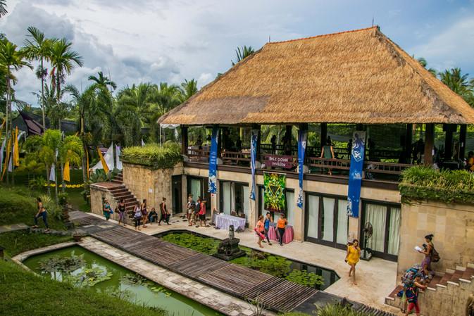 ubud, bali spirit festival, event photographer, festival photography, under a palm tree