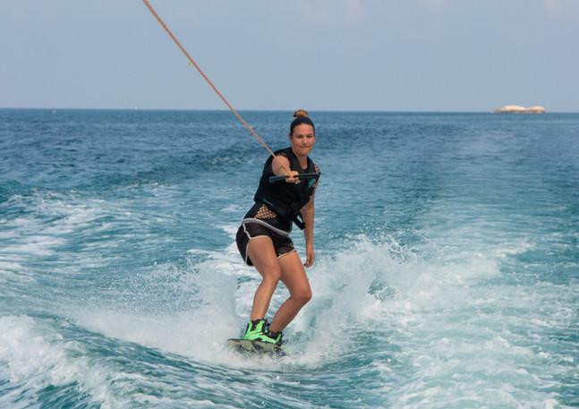 One arm wakeboarding koh phangan gulf of thailand