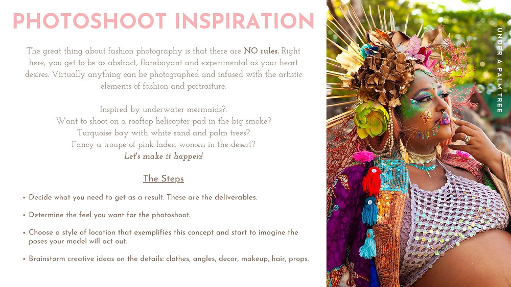 PHOTOSHOOT INSPIRATION: A guide for fashion designers
