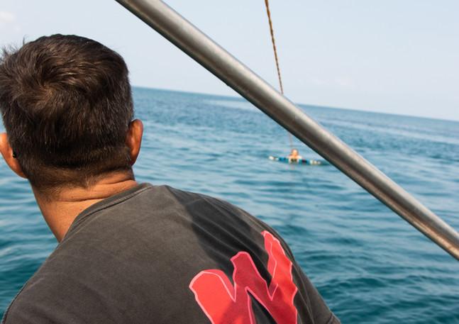 Flat seas in Chaloklum Bay