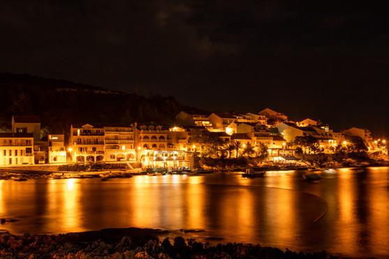hvar long exposure night photography croatia adriatic ocean travel photographer under a palm tree photography