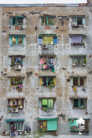 ho chi minh city urban buildings windows