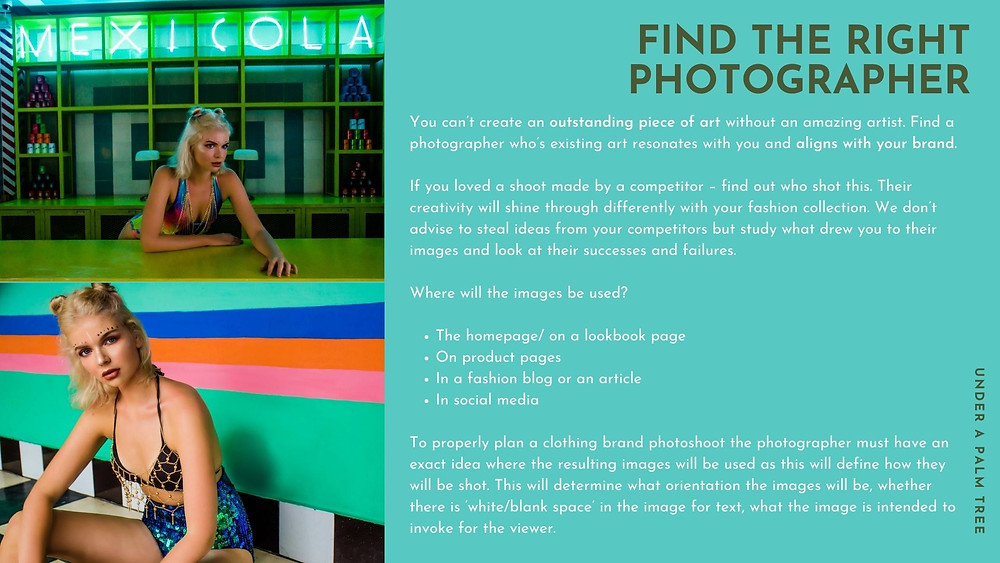 Finding the right photographer for your fashion campaign