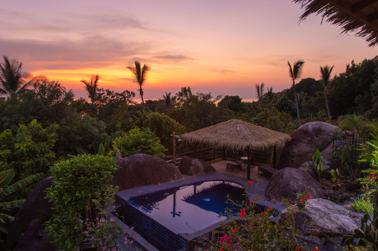perfect sunset in paradise  property pho