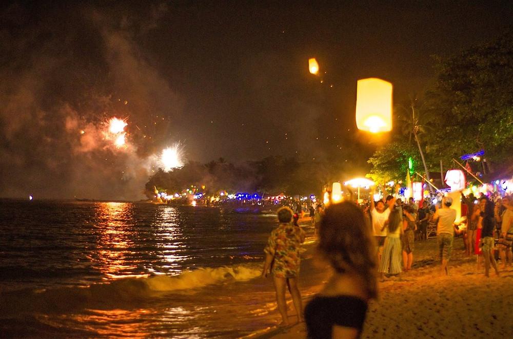 New Years Eve celebrations on Klong Khong beach, Koh Lanta