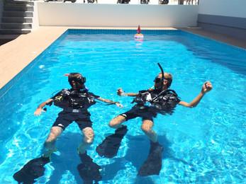 Open Water PADI Training Swimming Pool Koh Phangan