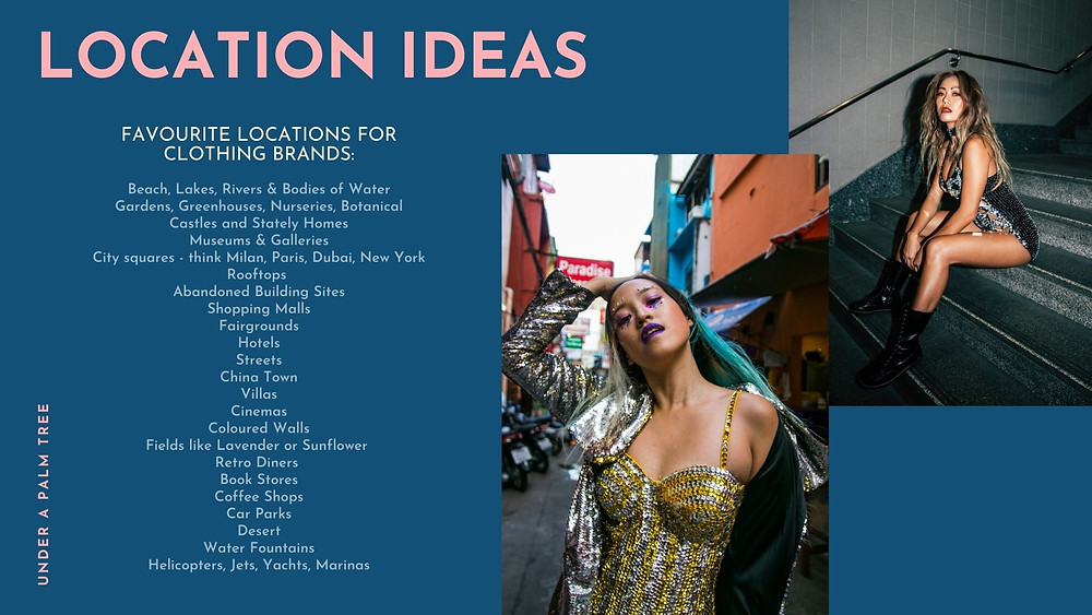 PLANNING YOUR FASHION CAMPAIGN: Location Ideas