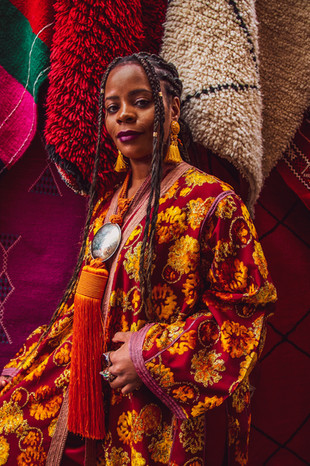 african, berber carpets, editorial, black girl khronicles marrakech orange juice, under a palm tree, fashion lookbook campaign,