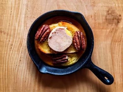 Pain doré érable et foie gras