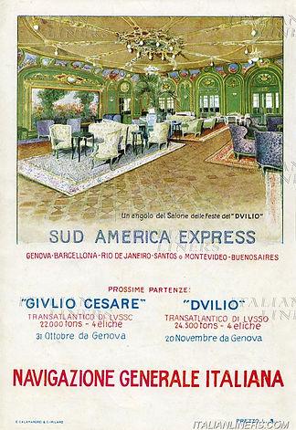 01 DUILIO 1923 PUB 1928 VIE AMERICA LATI