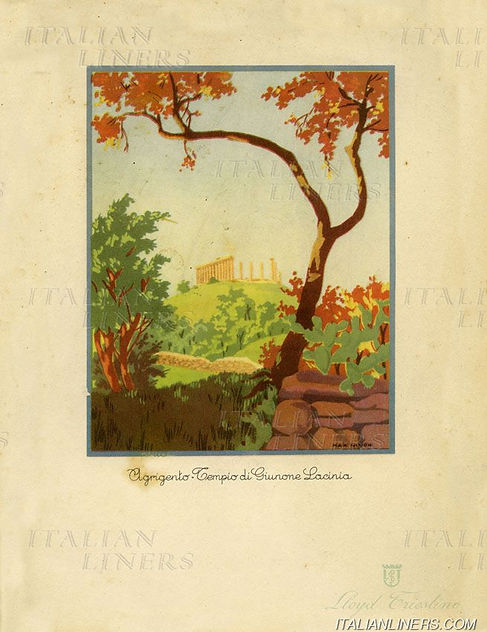 7CONTE ROSSO 1921 MENU 1937.08.23 LLOYD
