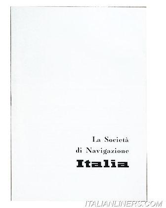 La Società di Navigazione Italia  (Opuscolo/Booklet)