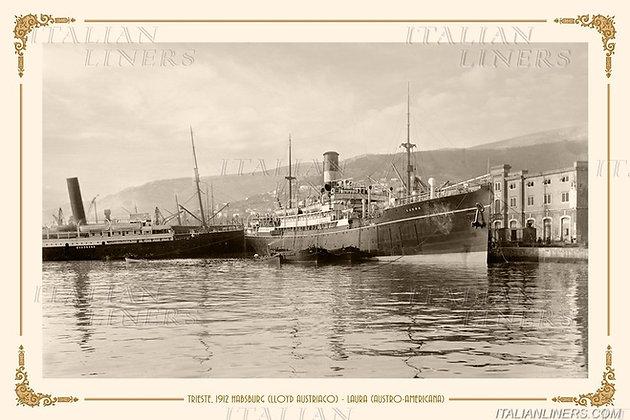 1912  Habsburg (Lloyd Austriaco) & Laura (Austro-Americana)