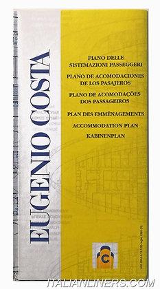 Eugenio Costa, piano delle sistemazioni passeggeri(Opuscolo/Booklet)