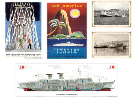 Three new posters and two new images available at the Italian Liners Shop