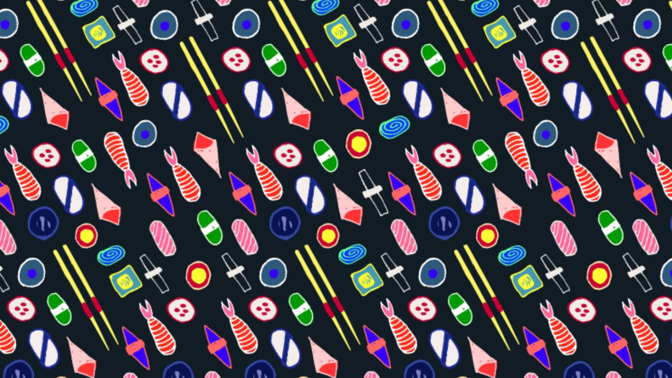 Sushi pattern2