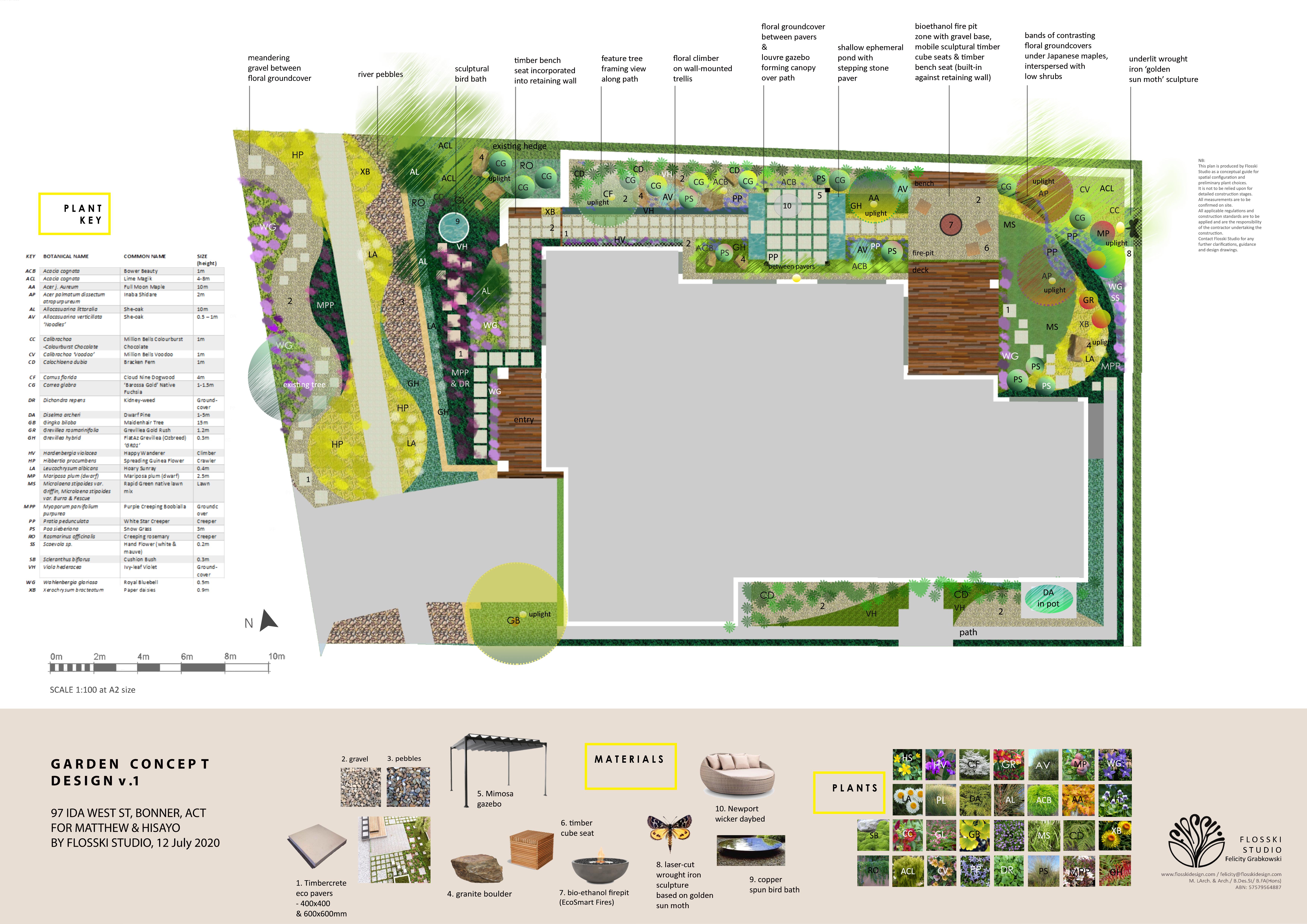 A2 concept landscape plan - Bonner - Flo