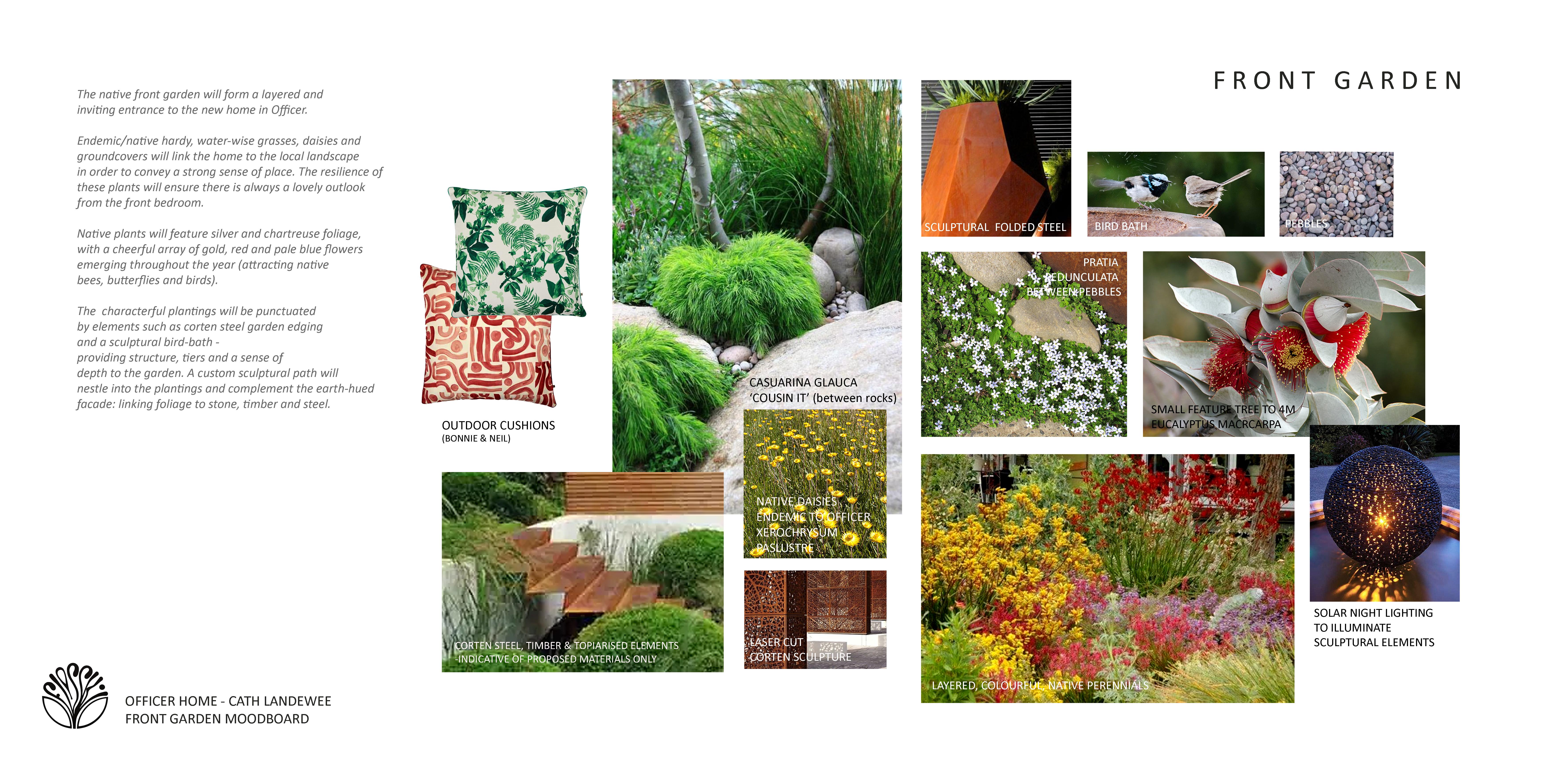 Front garden moodboard - Officer - Floss