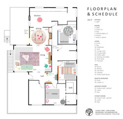 Lilydale interior - Plan and schedule -
