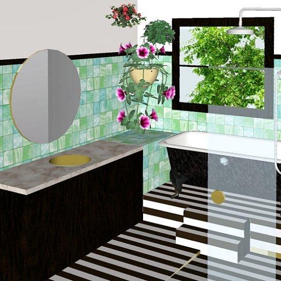 Vintage bathroom imaginings..
