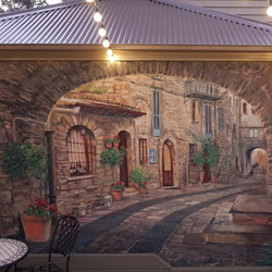 Tuscan mural for Deb & Andrew 20202