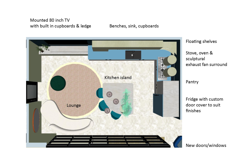 Kitchen plan bird's eye