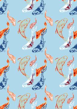 Koi pattern A4
